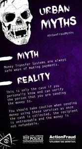 Urban Fraud Myth: Money Transfer
