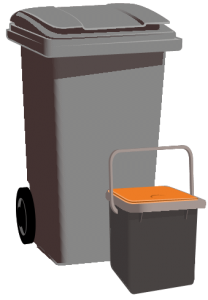 Waste and food bins