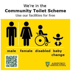 Sign displayed by Community Toilet Scheme Members