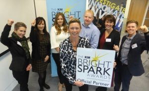 Discovery park's Kimberley Anderson with fellow KM Bright Spark supporters