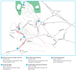 Proposed works in Godinton and Repton