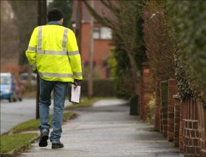 'Surveyor in hi-vis jacket