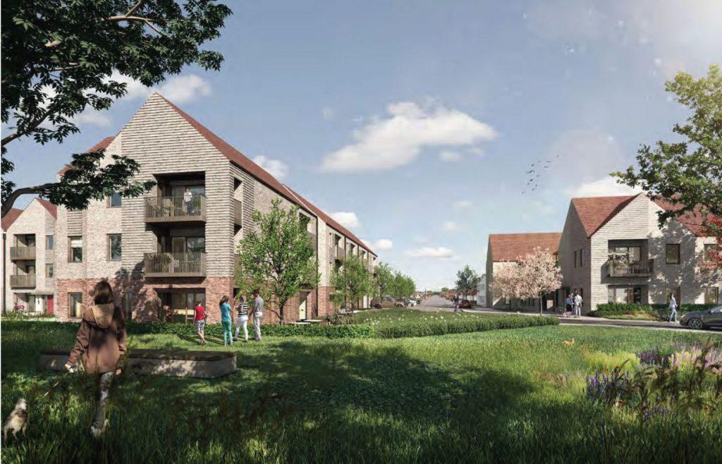 Image of proposed development looking North along Watercress Lane